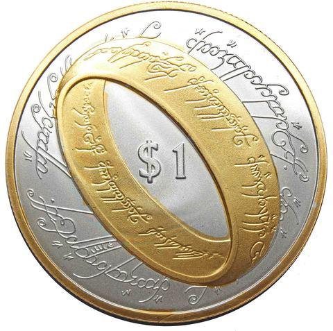 Жетон 1 доллар Властелин колец (Кольцо всевластия) 2003 год