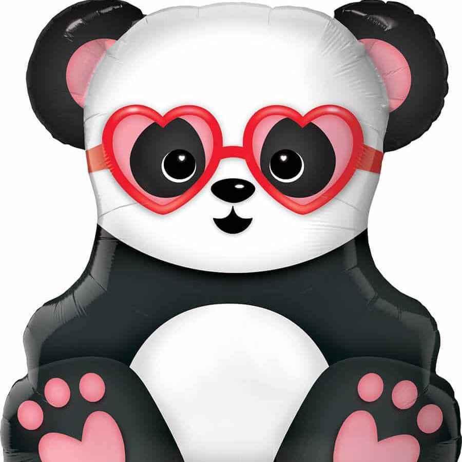 Фольгированный шар «Влюбленная панда», 81 см