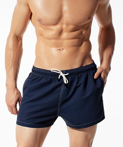 Укороченные шорты пляжные мужские KMB-180 Темно-синие