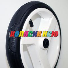 Колесо для детской коляски №003098 надув 10 дюймов (48х188) без вилки низкопрофильное (втулка на ось 10мм) ADAMEX (Адамекс) БЕЛЫЙ