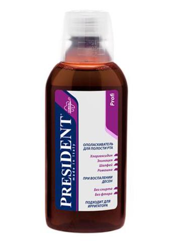 Ополаскиватель для полости рта Президент Профи с хлоргексидином
