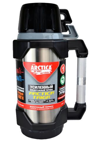 Термос Арктика (1,8 литра) с узким горлом классический, стальной