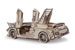 Спорткар Скат от Lemmo. деревянный конструктор, сборная модель, 3D пазл