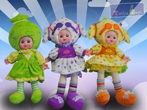 Кукла А-220 в платье муз. 40см