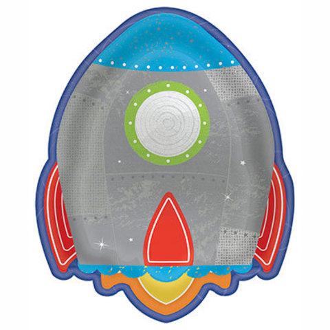 Тарелки Космос Ракета, 8 штук