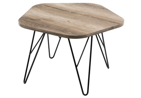 Стол деревянный кухонный, обеденный, для гостиной Журнальный Loft 60*60*38 Черный /Натуральный