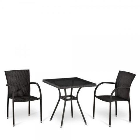 Комплект плетеной мебели из искусственного ротанга T282BNT-W2390/Y282-W52 Brown 2Pcs