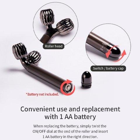 массажный роллер для лица с режимом мягких вибраций  WellDerma Face Lifting Vibrating Roller