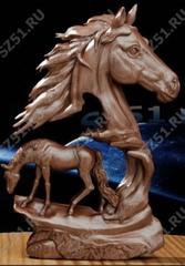 Силиконовый молд № 344 Конь  правый большой