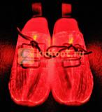 Светящиеся кроссовки с USB зарядкой на шнурках, цвет белый, светится верх. Изображение 3 из 23.