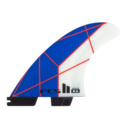 FCS II KA PC Tri Retail Fins Blue/White Medium