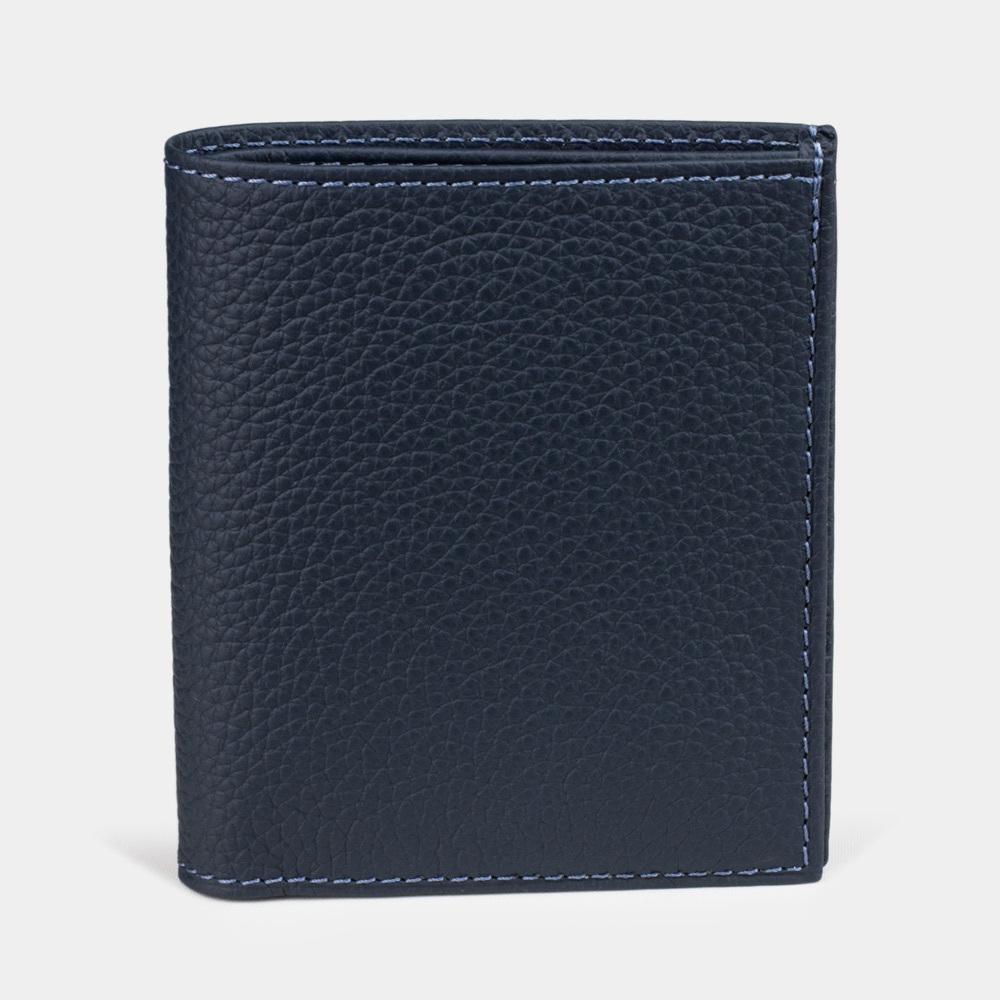 Мини-кошелек Pochette Bicolor из натуральной кожи теленка, цвета синий мат