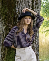 Блуза с паттерном цепи