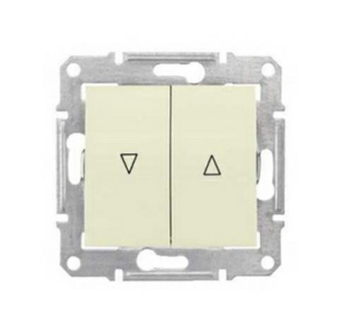 Выключатель для жалюзи с механической блокировкой 10А. Цвет бежевый. Schneider Electric Sedna. SDN1300347