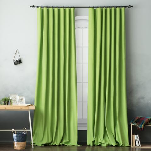 Комплект хлопковых штор Эмми зеленый