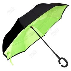 Зонт обратного сложения салатовый механический