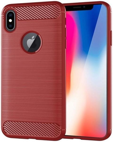 Чехол для iPhone X цвет Red (красный), серия Carbon от Caseport