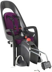 Детское велокресло с наклоном Hamax Caress с замком серый/фиолетовый
