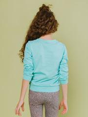 Пуловер (свитшот) трикотажный детский мятный с рисунком купить