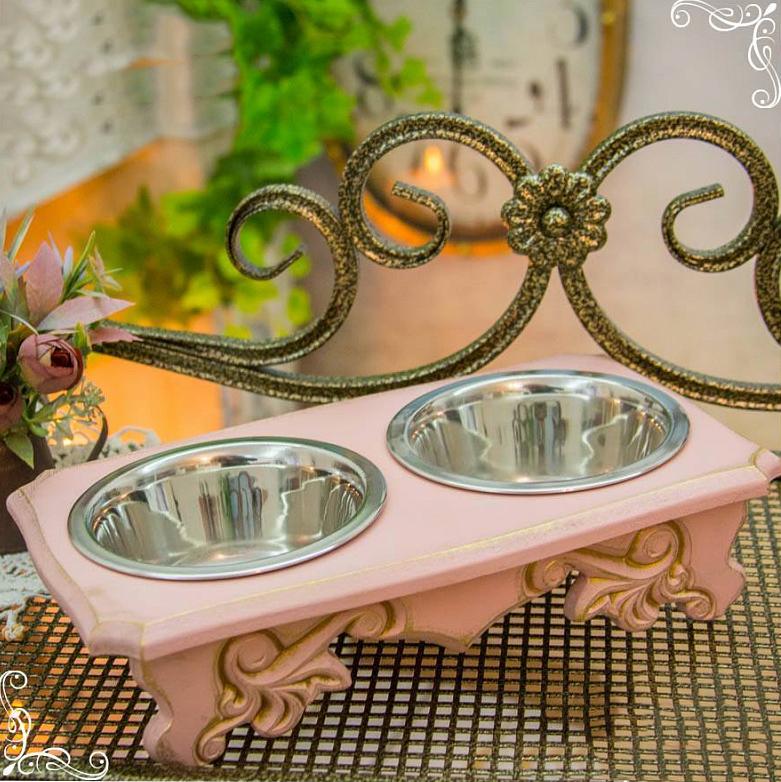 8014 - Стол с мисками для собак