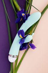 Мятный вибратор-кролик Iris - 22 см. -