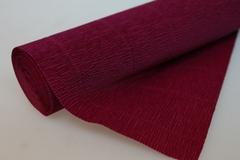 Бумага гофрированная простая темно-малиновый (584), 50 см./250 см.