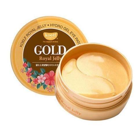 KOELF Gold & Royal Jelly Hydro Gel Eye Patch гидрогелевые патчи для кожи вокруг глаз с золотом и маточным молочком