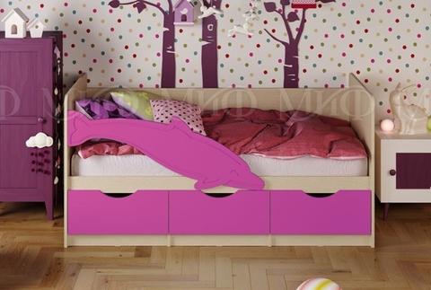Кровать Дельфин-1 сиреневый мат.