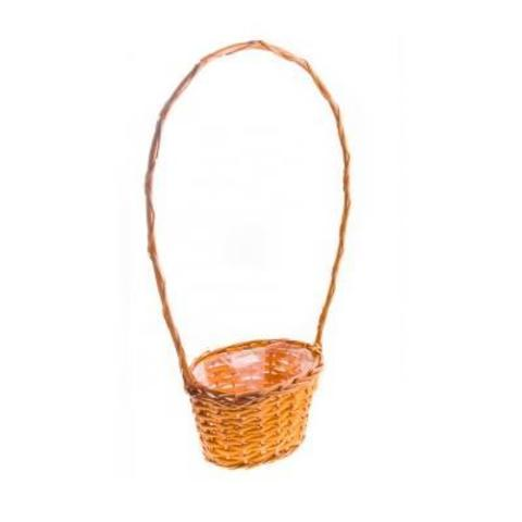 Корзина плетеная, 19х14х10/12х50см, оранжевый