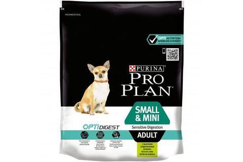 Сухой корм Purina Pro Plan для взрослых собак мелких и карликовых пород с чувствительным пищеварением, ягнёнок с рисом,  700 г