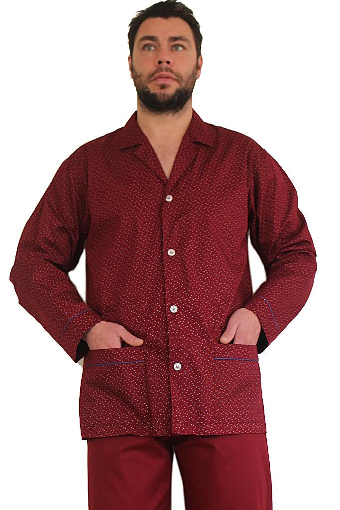 Бордовая мужская пижама B&B