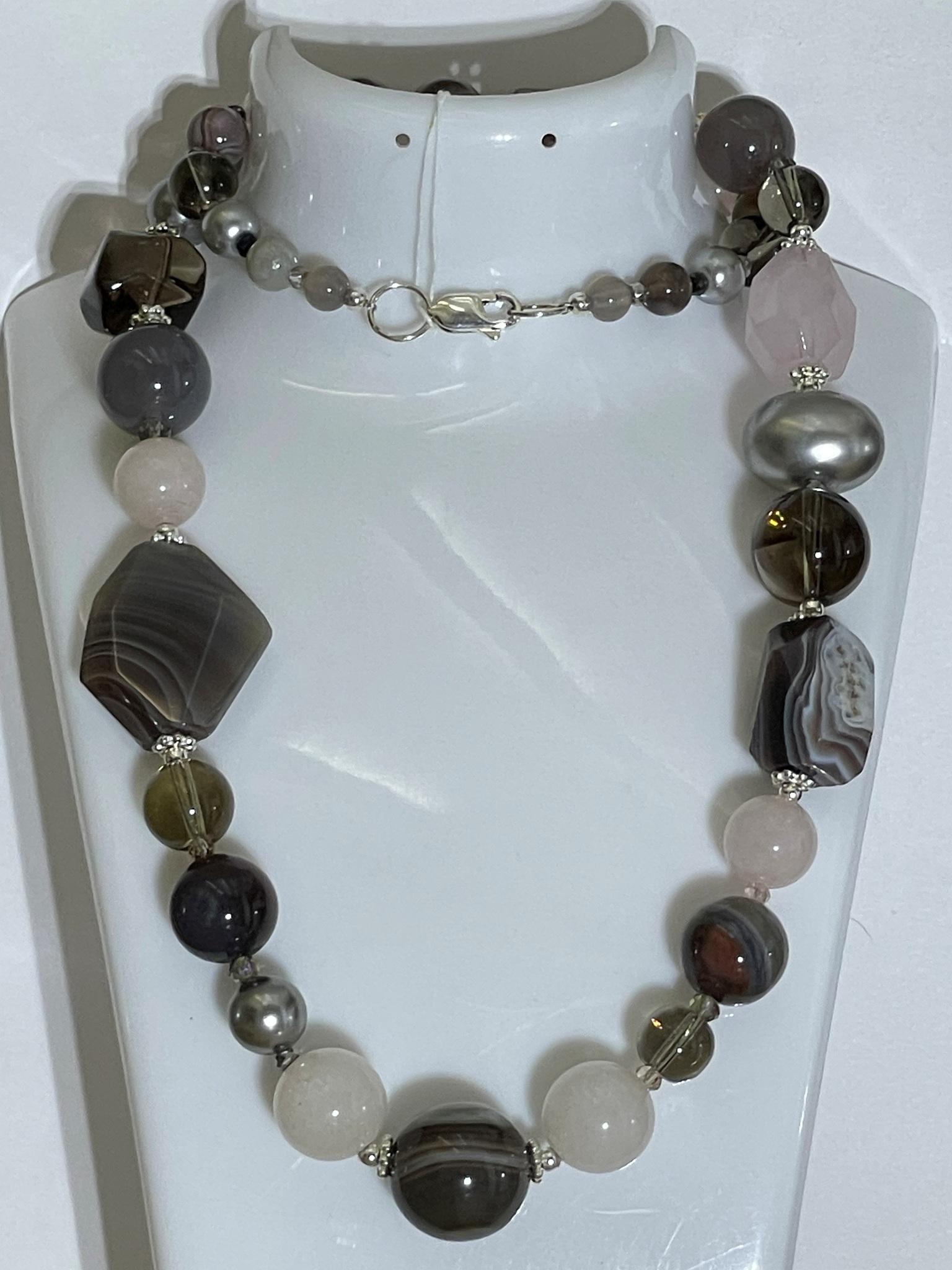 809-роз.кварц (бусы из натуральных камней)