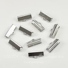 Концевик для лент 16 мм (цвет - платина), 10 штук