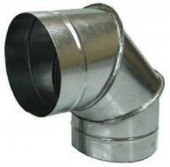 Отвод (угол/колено) 90 градусов D 125 мм оцинкованная сталь