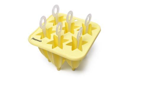 6570 FISSMAN Форма для изготовления мороженого на палочке 6 ячеек, силикон,  купить