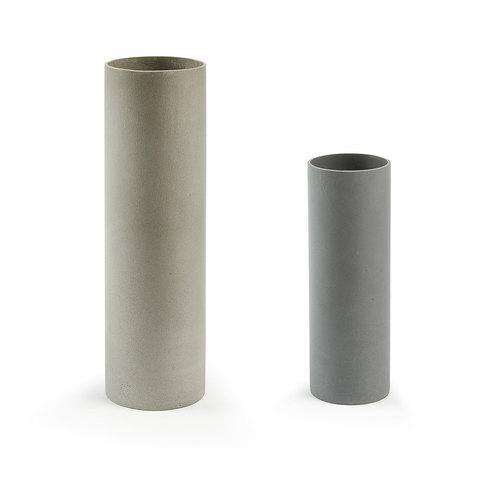 Комплект из 2-х ваз Stefy цемент серый