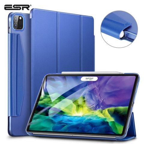 Ударопрочный магнитный чехол ESR Rebound Pencil Case для iPad Pro 12.9 2020 (синий)