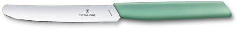 Нож Victorinox столовый, лезвие 11 см прямое, мятно-зелёный