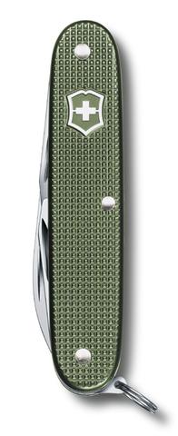 Нож Victorinox Pioneer, 93 мм, 8 функций, алюминиевая рукоять, зелёный