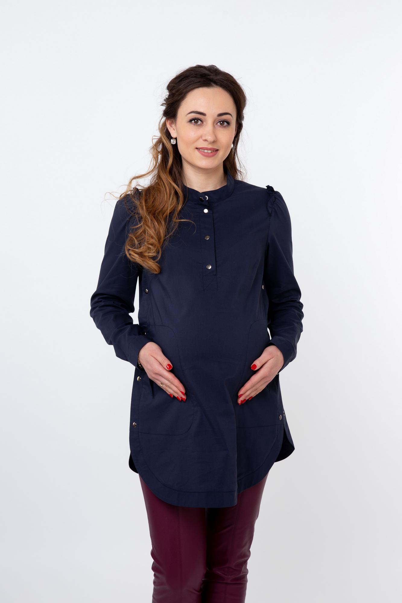 Туника для беременных 09811 синий