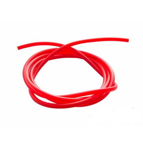 Шланг ПВХ 6 мм для быстросъемов 10 мм, 1 м (красный)