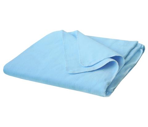 Одеяло байковое Морская волна