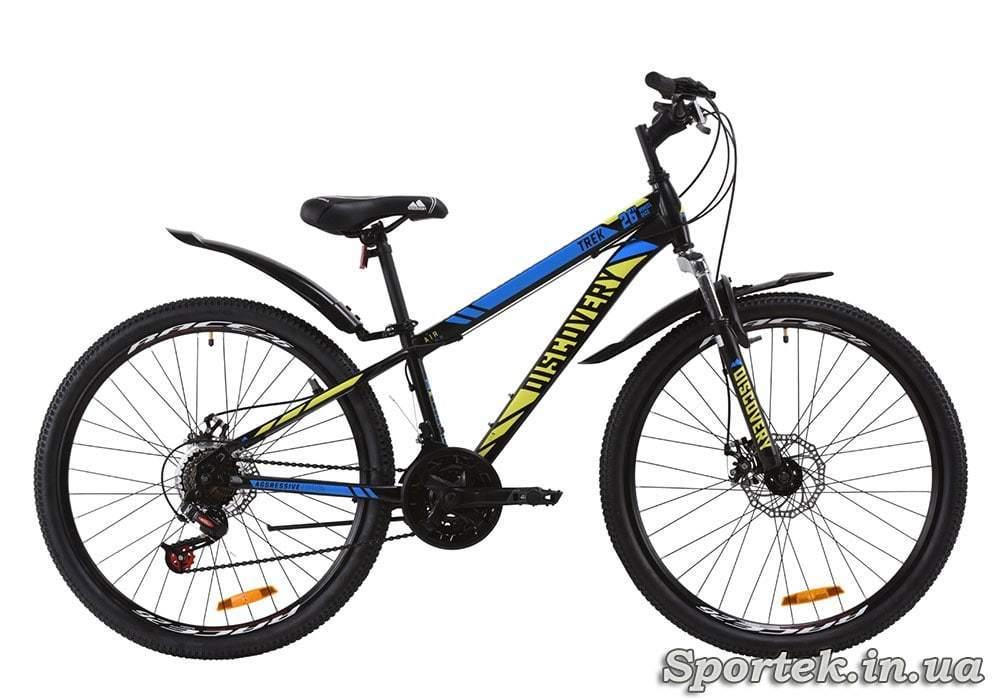 Горный универсальный велосипед Discovery Trek AM DD с колесами 26