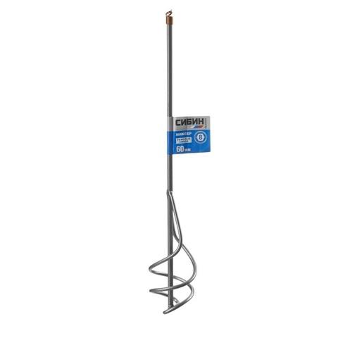 Миксер СИБИН для песчано-гравийных смесей, шестигранный хвостовик, 60х400мм