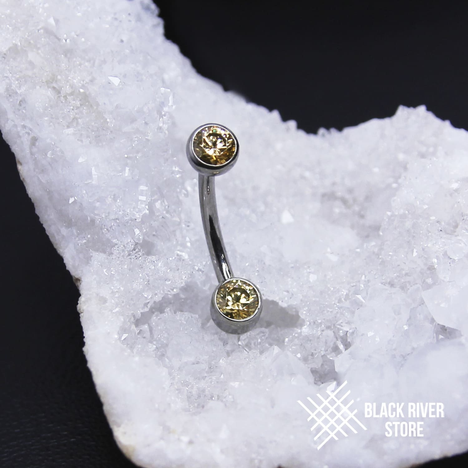 IS Банан Faceted Champagne CZ