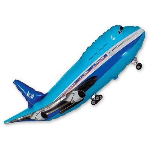 Шар фигура Самолет синий