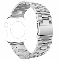 Блочный ремешок Fohuas из нержавеющей стали (Silver) для Apple Watch 42mm