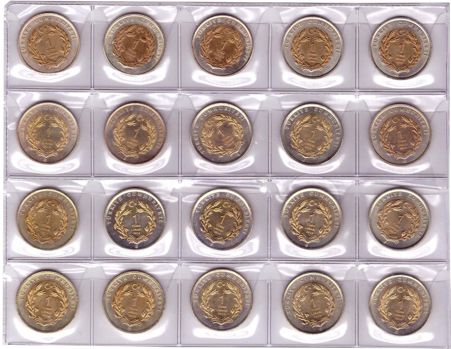 Набор из 20 монет