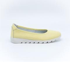 Желтые кожаные балетки