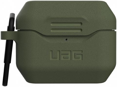 Чехол с карабином Urban Armor Gear (UAG) Standard Issue Silicone_001 Case для AirPods Pro, цвет Оливковый (Olive)